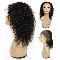 Kisshair Water Wave 13 * 4 Frontal Natürliche Farbe Zu Ohr Vordere Spitze Remy Brazilian Hu Haarperücke Für Frauen
