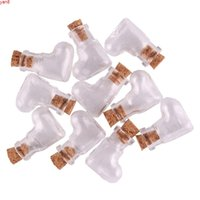 50pcs Transparent heart Glass Bottle Jars Vials Wishing Cute Art Bottles with Corks Stopper DIY craft gifthigh qty