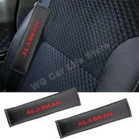 Safety Belts & Accessories Car Belt Protector For Alaskan Carbon Fiber Texture Seatbelt Shoulder Pad Auto Seat Cover