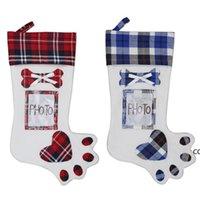 Christmas Gift Bag Christmas Tree Ornament Socks Xmas Stocking Candy Bag Home Party Decorative Items Shop Shopwindow DHD10227