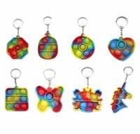 DECOMPRESSIONE SEMPLICE Dimple Dimple Fidget Giocattoli Push Bubble Sensory Toy Colorato Soft Squishy Antistress Portachiavi Pendente