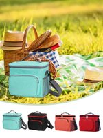 Storage Bags Insulated Cooler Bag Thermal Picnic Lunch Basket Outdoor Transport Container Portable