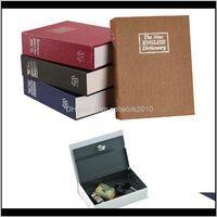 Boxes Bins Book Piggy Bank Creative English Dictionary Money With Lock Safe Deposit Home Mini Cash Jewelry Security Storage Box Wdu0B 482Ta