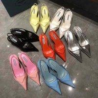 Сексуальные женщины прозрачные платья обувь ограниченным выпуском каблуки бизнес-дела обувь комфорт бисером пряжки ленты заклепки с коробкой высокого качества
