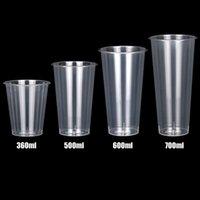 360ml 500ml 600ml 700ml Disposable Thickened Plastic Milk Tea Cup Wholesale
