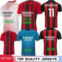 21 22 Ibrahimovic Thai 20 AC Milan Soccer Jerseys Chemise de football Pateque Paquetta Suso Higuain Calhanoglu Caldara Hommes Kit enfants