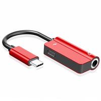휴대 전화 어댑터 유형 C 3.5 잭 이어폰 USB-C to 3.5mm Aux 헤드폰 어댑터 오디오 케이블