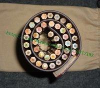 Borsa di alta qualità Brown Mono Mono Flower Letter Tela Coated Real Pelle Pelle 40 Colori Roll rotolo con penne da colorare GI0374 Nessuna confezione regalo