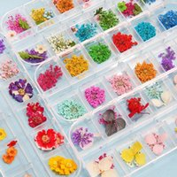 Decorative Flowers & Wreaths 1Box Dried Dry Plants For Resin Molds Fillings Epoxy Pendant Necklace Jewelry Making Craft DIY Nail Art Decorat