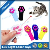 Footprint Shape LED Light Laser Toy Tease Funny Cat Rods Pet Cats Toys Creative 5 Colors DHL