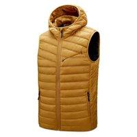 Down Jacket Men Brand Vest s Sleevel Coats Autumn Winter Warm Casual Windbreak Jackets with Hood Quality 4xl