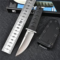 Mini Fixed Blade Knife Tactical Military Hunting Pocket Knives 8Cr13MoV Steel Nylon Handle Outdoor Camping Tools Self Defence Combat Saber