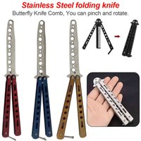 Flanders Mes Practical Training Zakmes Stainless Steel Game Toys Without Sheet Folding Gooi Trainer Flip Formation