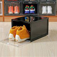 Zapatillas de deporte caja de almacenamiento inicio zapatos de baloncesto zapato alta ayuda de la pared colección de pared pantalla limpieza cajones
