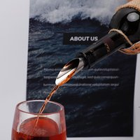 Bar Tools Wine Stopper Pourers Stainless Steel Wine Funnel Bottle Pourer Cap Bar Tools BWD8907