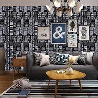 Alfabe İngilizce Duvar Kağıdı Berber Kişilik Kendinden Yapışkanlı Su Geçirmez Sticker Siyah Oturma Odası Yatak Odası PVC Duvar Kağıtları