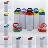 12oz Straight Straight Cup Blank Sublimation Tumbler Enfants Bouteille d'eau 350ml Acier inoxydable Tobineur à boire pour enfants Cyz3051 Sea Shipping