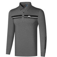 Männer Polos Frühling und Herbst Kleidung JL Langarm Golf T-Shirt 3 Farben Outdoor Lässig Schnelltrocknendes Stoffhemd