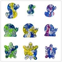 Spingere le rane di bolla anatre arcobaleno colori irregolari giocattoli per bambini sensoriali giocattolo giocattolo autismo bisogni speciali stress reliver adulto bambini divertente decompressione antistress decompressione