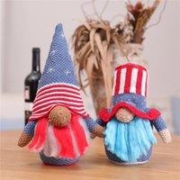 2021 Independence Day Party Patriotische Gnome Tischdekor Handgemachte Tomte Puppe Home Decoration Großhandel
