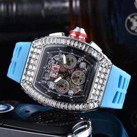 손목 시계 스타일 6 핀 다기능 광장 다이아몬드 와인 병 석영 남성과 여성 패션 시계