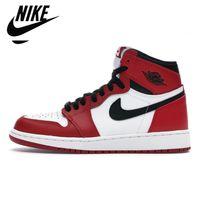 Jumpman jordan 1 Basketball Shoes Running shoes OG أحذية كرة السلة 1S الملكي تو السوداء وردي أخضر المحكمة سوداء الأرجواني الأبيض الرجال براءات الاختراع UNC 36-46