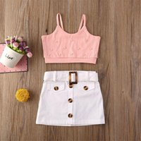 Clothing Sets Toddler Kids Baby Girl Vest Tank Tops + Mini Skirt Dress 2PCS Outfits Clothes
