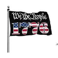 Wij de mensen Betsy Ross 1776 3x5FT vlaggen 100D Polyester Banners Indoor Outdoor Levendige Kleur Hoge Kwaliteit met twee Messing Grommets 496