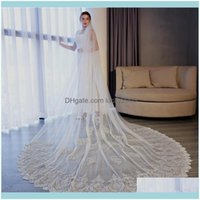 Veils Aessories , Party & Eventseye Catching Wedding Soft Tulle Floral Applique With Comb Ivory 3Dot5* Long Bridal Veil High Quality Aept Cu