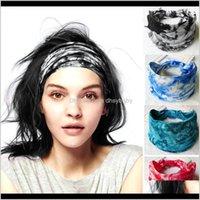 Stirnbänder Schmuck Drop Lieferung 2021 Big Wide Cotton Stirnband für Frauen Sport Turban Haarbänder Weiche Bedruckte Mädchen Elastische Kopfband Böhmische H