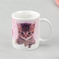 Sublimation Blanks Banks Mug Personalità Transfer Transfer Transfer in ceramica Tazza ceramica 11oz White Water Cup Party Regali Drinkware Mare Shipping HHA5066