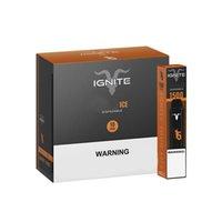 IGNITE V15 Dispositivo desechable E Kit de cigarrillos 1500 Puffs POD 850mAh Batería 5.1ml Cartucho precargado Vape Vape Pen vs Bar Plus XXL