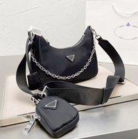 2021 Top Umhängetasche Hohe Qualität Designer Nylon Handtasche Mode Trend Bestseller Damen Luxus Classic Drei-in-One Messenger Kette Canvas Brieftasche