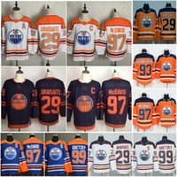 2021 Reverse Retro Branco Edmonton Oilers Hóquei Jerseys 97 Connor McDavid 29 Leon Draisaitl 99 Wayne Gretzky 93 Ryan Nugent Hopkins 74 Ethan Bear Third