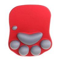 Pads de souris Poigne-bracelet Reste 3D Mignon Pad anime Soft Soft Silicone Cat Repos Support Memeure Mousse Jeux Mousepad Tapis de souris