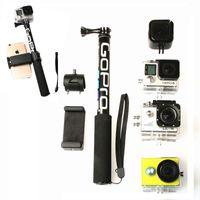 Mounts Selfie-Monopoden Self-Stick-Handheld-ausziehbarer Pole-Monopod-Telefon-Halter-Adapter für Go Pro Hero 9 8 7 6 5 4 Xiaoyi 4K SJCAM-Zubehör