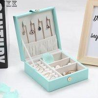 Joyas de envasado Joyas de exhibición Cajas de regalo Simple Creativo Caja de joyería portátil Pendientes Anillo Caja pequeña