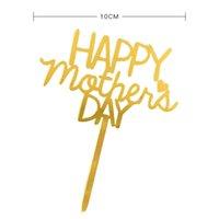 Feliz Día de la Madre Torta Topper Acrílico Rose Oro Mejor Mamá Cake Topper Para Día de la Madre Fiesta de cumpleaños Decoración de pasteles OOD5421