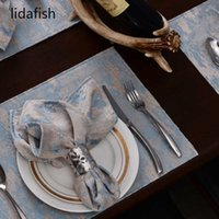lidafish High-quality Polyester Tea Towel Napkin Square Satin Fabric Cloth Table Clean Cup cloth Hotel Home Supplies