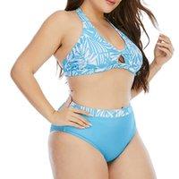 Women's Swimwear Bikini Set Women Plus Size Striped Split Swimsuit Beachwear Swimsuits Two Piece Biquini