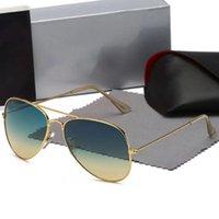 최고 품질의 클래식 라운드 선글라스 브랜드 Gesign UV400 안경 금속 골드 프레임 태양 안경 남자 유리 렌즈