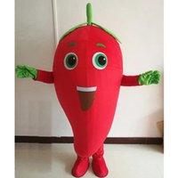 Halloween Red Chili Maskottchen Kostüm hochwertig anpassen Cartoon Anime Thema Charakter Erwachsene Größe Weihnachten Karneval Festival Fancy Dress