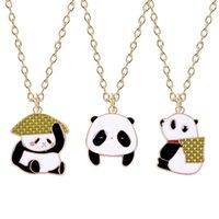 Dessin animé Mode Hommes et femmes Pendentif Collier Animal Red Panda Shape Alliage Variété de bijoux en option Cadeaux Direct Ventes Colliers