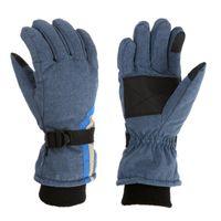 Five Fingers Gloves 2021 Children Winter Ski Waterproof Snowproof Warm Boys Girls Kids Adjustable Strap For Skating Cycling Mittens