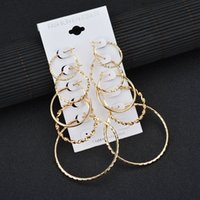 K34 fashion exaggerated size circle 5-piece Earring Set Earrings