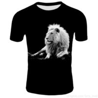 Blue flame lion new 3D printing mens and womens short-sleeved casual T-shirt childrens mens and womens T-shirtsoccer jersey