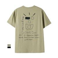 Travis Scott Kaktüs Jack Wink Utopia Tee Kısa Kollu Erkek Baskılı T-shirt Siyz
