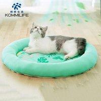 Camas de gato Mobiliário Kommilife Respirável cama macia À Prova D 'Água Sofá Pequeno Sofá Verão Refrigeração de Verão para Cães Cats Lavável Cachorro Almofada