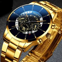 Дизайнерские часы бренда часы роскошные часы из нержавеющей стали мужчины бизнес календарь кварц запястье мужчина часы монтр homme