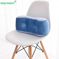 Cushion Decorative Pillow Back Support Chair Velvet Fabric Memory Foam Orthopedics Maternity Waist Office Car Seat